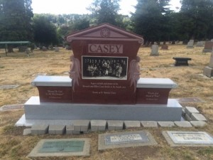 Just installed last week - Casey Family Tribute at Calvary Cemetery in Seattle